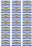 Zeeland Flag Stickers - 21 per sheet